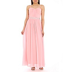 Alice & You - Light pink embellished bandeau maxi