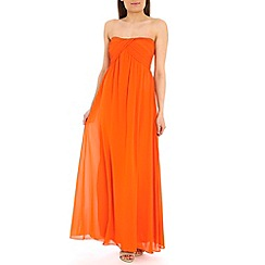 Alice & You - Orange ruched bandeau maxi dress