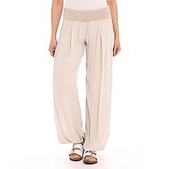 Amaya - Beige slouchy trouser