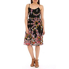 Poppy Lux - Multicoloured senar midi cami dress