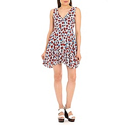 Tenki - Red flower print dress