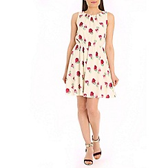 Tenki - Cream rose print dress