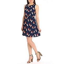Tenki - Blue rose print dress