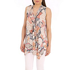 Tenki - Light pink abstract print top
