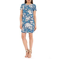 Sugarhill Boutique - Blue hawain floral tunic dress