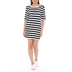 Damned Delux - Navy striped shift tunic dress