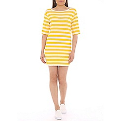 Damned Delux - Yellow striped shift tunic dress