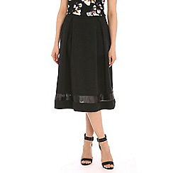 Poppy Lux - Black wilma scuba midi skirt