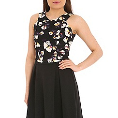Poppy Lux - Black tamesha petal shell top