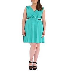 Samya - Green pleated dress