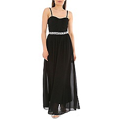 Alice & You - Black embellished bandeau maxi