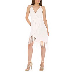 Alice & You - Cream fringe wrap cami dress