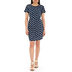 Sugarhill Boutique - Navy happy holidays dress