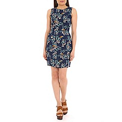 Sugarhill Boutique - Navy tropical bird shift dress