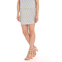 Sugarhill Boutique - Blue geo print mini skirt