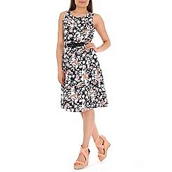 Izabel London - Navy floral print dress