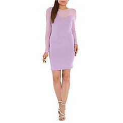 AS by Anna Smith - Purple mesh sleeve dress