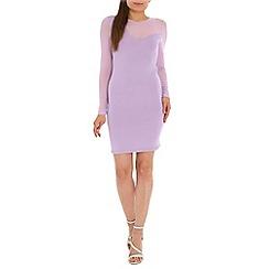 AS by Anna Smith - Purple mesh sleeve dress