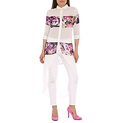 AS by Anna Smith - Multi-coloured floral print long shirt