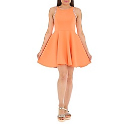AS by Anna Smith - Peach embellished sleeve dress