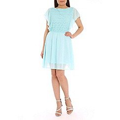 Pussycat London - Light green lace insert dress