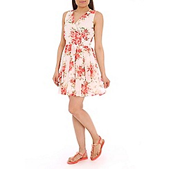 Pussycat London - White rose print dress