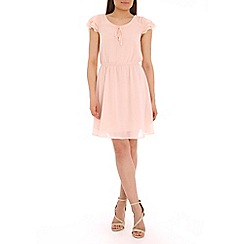 Pussycat London - Peach flared sleeve dress