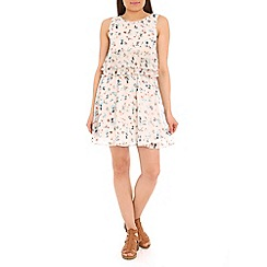 Pussycat London - Cream floral print flare dress