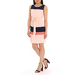 Pussycat London - Peach colour block dress