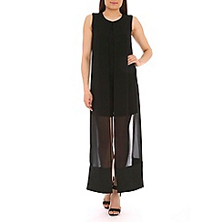 Pussycat London - Black double layer maxi dress