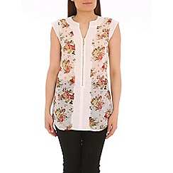 Pussycat London - Cream rose print top