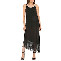Alice & You - Black fringe dip hem dress
