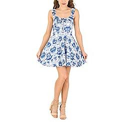 Izabel London - Blue floral print dress