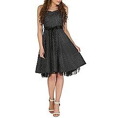 Izabel London - Black polka print tube dress