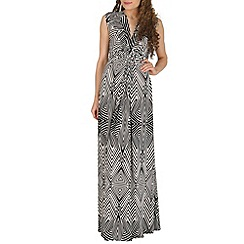 Izabel London - Black printed maxi dress