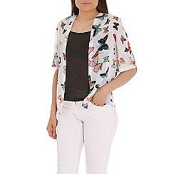 Mandi - White 3/4 sleeves kimono