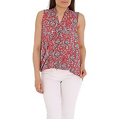 Mandi - Pink printed twisted top