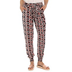 Mandi - Red multi print pants