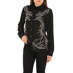 Jolie Moi - Black stud embellished shirt
