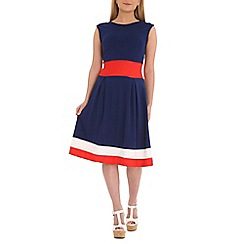 Indulgence - Navy skater dress