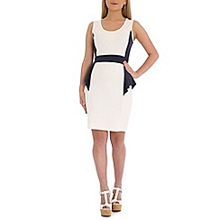 Indulgence - White peplum dress