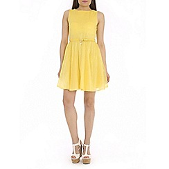 Chase 7 - Yellow belt detail tea dress