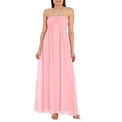 Alice & You - Pink ruched bandeau maxi dress