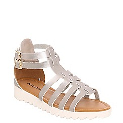 Alice & You - Silver multi strap gladiator sandal