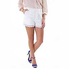 Wolf & Whistle - White lace shorts