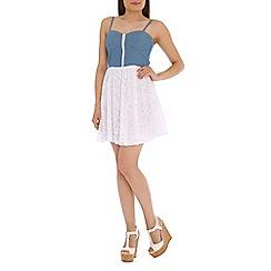 Madam Rage - Blue denim zip dress