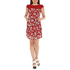 Tenki - Red rose print dress