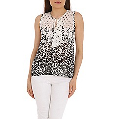 Tenki - White polka and flower top