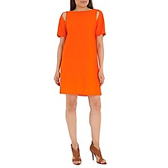 Damned Delux - Orange cold shoulder tunic