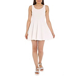 Damned Delux - Ivory windsor skater dress